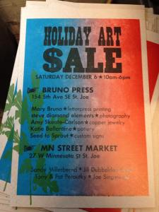 Holiday Art Sale 2015